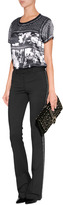 Roberto Cavalli Wool Pants with Chain Trim in Black