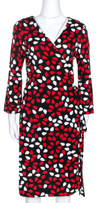 Diane von Furstenberg Diane von Fursternberg Multicolor Printed New Julian Two Wrap Dress XL