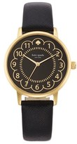 Kate Spade Women's 'Metro' Scalloped Dial Leather Strap Watch, 34Mm