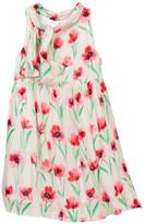 Milly Minis Tie Neck Dress (Big Girls)