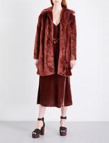 Frame Single-breasted faux-fur coat