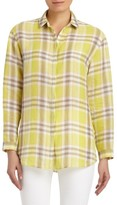 Lafayette 148 New York Women's Sabira Plaid Blouse