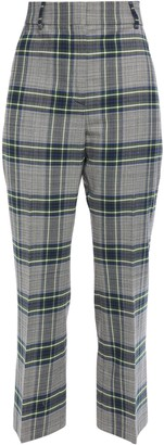 Cédric Charlier Checked Woven Kick-flare Pants