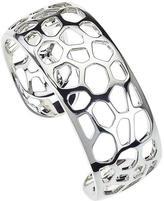 Sterling Silver Safari Giraffe Spot Cut Out Cuff Bracelet by Ax Jewelry