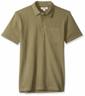 Goodthreads Amazon Brand Men's Short-Sleeve Sueded Jersey Polo