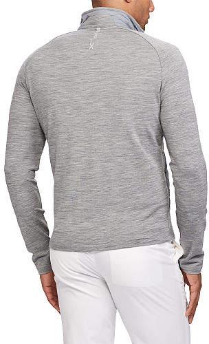 Ralph Lauren Paneled Stretch Wool Sweater