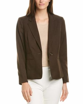 Kasper Women's 1 Button Notch Collar Crepe Jacket