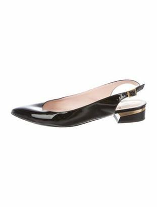 Lanvin Patent Leather Slingback Flats Black