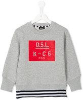 Diesel logo print sweatshirt - kids - Cotton - 6 yrs