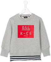 Diesel logo print sweatshirt - kids - Cotton - 8 yrs
