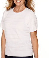 Alfred Dunner Sausalito Short-Sleeve Sweater Shell