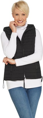 Lisa Rinna Collection Puffer Vest with Side Zipper Detail
