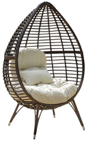 Christopher Knight Home Cutter Teardrop Wicker Lounge Chair
