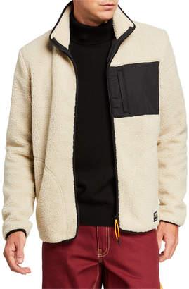 Wesc Men's Moritz Zip-Front Fleece Jacket