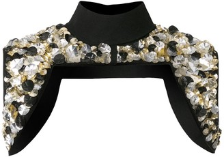 Vera Wang Sequin-Embellished Cropped Jacket