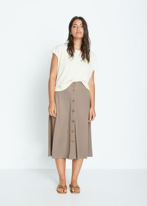 MANGO Fluid midi skirt