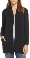 Bobeau Women's Ruched Sleeve Cardigan