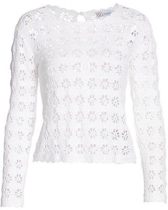 RED Valentino Lace Long Sleeve Top