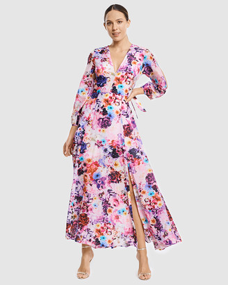 Aqua Blu Australia Full Bloom Plunge Dress