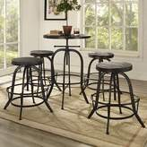 Modway Gather 5 Piece Dining Set Color: Black
