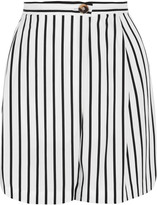 McQ by Alexander McQueen Wrap-effect striped twill shorts