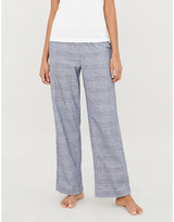 Derek Rose Kelburn brushed cotton-flannel pyjama bottoms