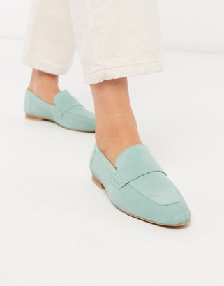 ASOS DESIGN Motion suede loafers in mint