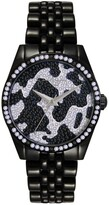 Thumbnail for your product : Jessica Simpson Women's Camo Pave Crystal Black Tone Bracelet Watch 37mm