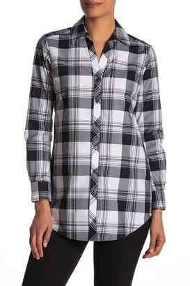 Foxcroft Faith Plaid Print Shirt