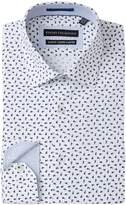Report Collection Floral Print Stretch Slim Fit Dress Shirt