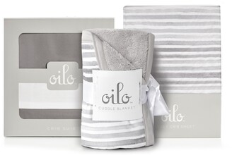 Oilo Ink Crib Skirt, Cuddle Blanket & Fitted Jersey Crib Sheet Set