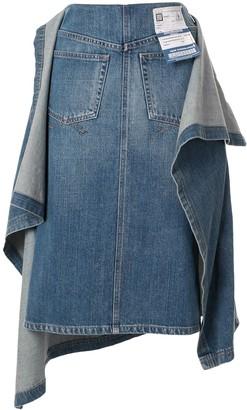 Maison Mihara Yasuhiro Asymmetric Denim Skirt