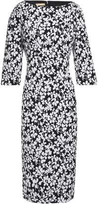 Michael Kors Floral-print Jacquard Dress