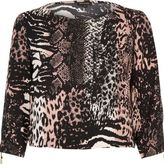 River Island Womens Pink animal print top