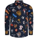 Dolce & Gabbana Dolce & GabbanaBoys Navy Sports Print Shirt