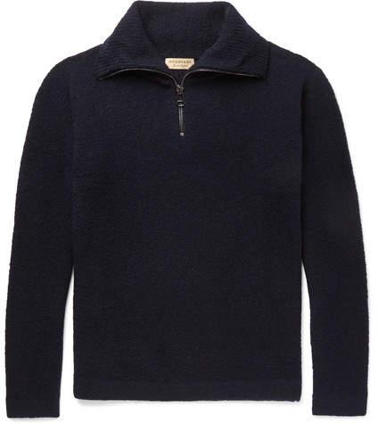 Burberry Cashmere-Blend Half-Zip Sweater