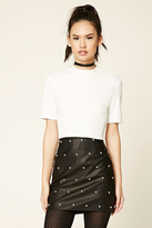 Forever 21 FOREVER 21+ Studded Faux Leather Skirt