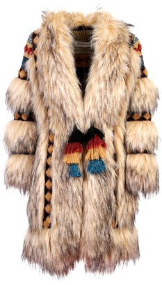 The Extreme Collection Faux Fur Knit Coat Prince