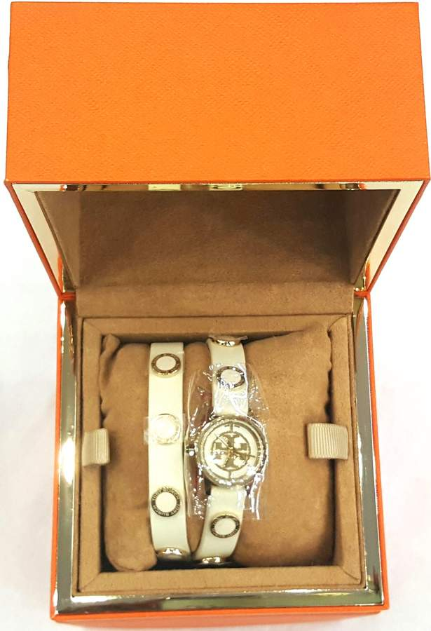 Tory Burch Women's Reva Mini 20mm Leather Band Steel Case Quartz Watch TRB4015