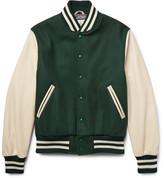 GoldenBear Golden Bear Virgin Wool-Blend And Leather Bomber Jacket