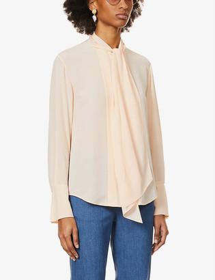 Chloé Pussy-bow silk-crepe shirt