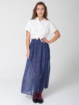 Printed Chiffon Full Length Skirt