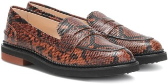 Tod's Snake-effect leather loafers