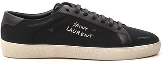 Saint Laurent Court Classic SL/06 Embroidered Sneakers