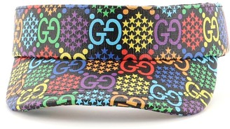 Gucci Sun Visor Psychedelic Print GG Coated Canvas XXL