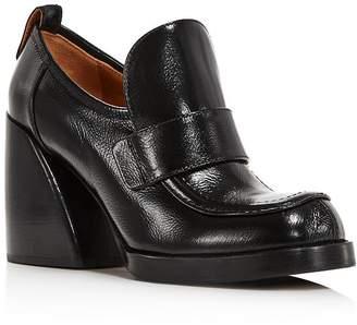 Chloé Women's Adelie Leather Block-Heel Loafers