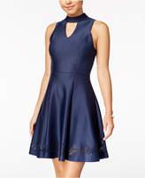Sequin Hearts Juniors' Choker Fit & Flare Dress