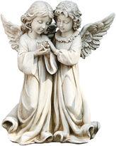 Asstd National Brand 12.25 Angels with Bird Outdoor Statue