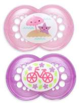 Mam Pearl Ages 6 Months and Up Pacifier in Pink/Purple (2-Pack)