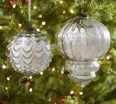 Pottery Barn Oversized Silver Mercury Glass Ornaments